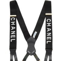 Black Logo Suspenders
