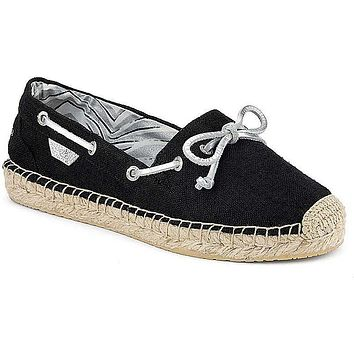 Women's Katama Espadrille in Black Canvas by Sperry - FINAL SALE