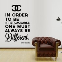 Wall Decal Vinyl Sticker Decals Art Design Coco Chanel Logo Paintings Statement Quote Inscription Living Room Bedroom Mural Fashion (M1339)