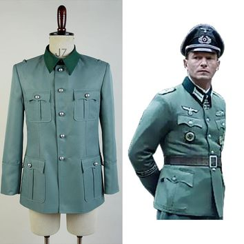 Deutsch Army German Military Uniform Cosplay Costume Coat Only Christmas Halloween Carnival Adult Men