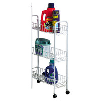 Household Essentials Slimline 3 Shelf Laundry Cart & Reviews | Wayfair