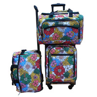 Chocolate New York Sunshine 3-piece Carry On Spinner Luggage Set | Overstock.com Shopping - The Best Deals on Three-piece Sets