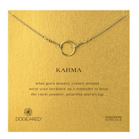 Dogeared, Karma Necklace, Gold Dipped - 18 inch