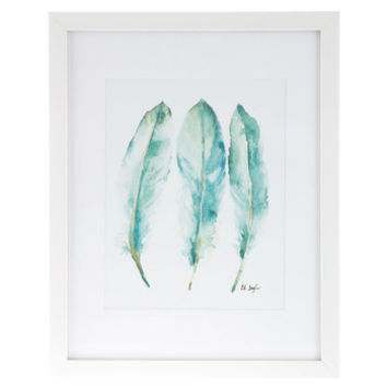 Blue Feather Trio Framed Wall Decor | Hobby Lobby | 1292424