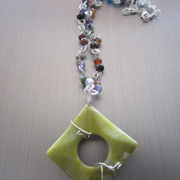 Augusta - Agate/Sterling Silver Necklace