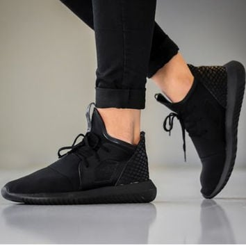 Women Men Running Sport Casual Shoes Sneakers Pure black scale