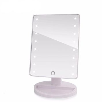 Touch Screen Led Lighted Makeup Mirror