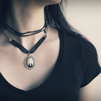 Rib Cage Cameo Necklace