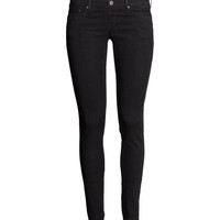 H&M - Super Skinny Super Low Jeans - Black - Ladies