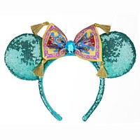 Disney Parks Princess Jasmine Sequined Minnie Ears Headband One Size New w Tag
