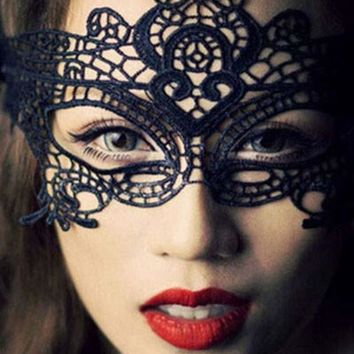 Black Halloween Masquerade Party Lace Mask
