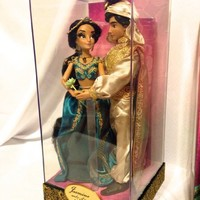 D23 Expo Disneys Fairytale Designer Collection Jasmine and Aladdin Limited Edition 6000 w/ Designer Bag