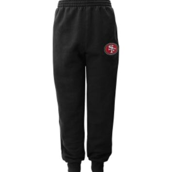 NFL Team Apparel Youth San Francisco 49ers Cuffed Black Pants | DICK'S Sporting Goods