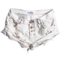 Bandits shorts in frost with Copper Buttons