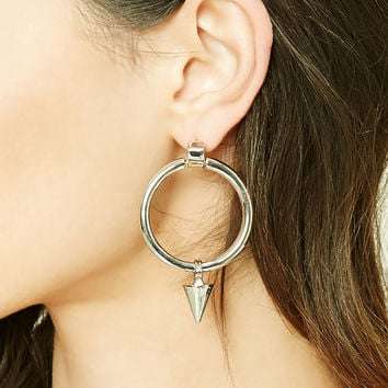 O-Ring Spike Pendant Earrings