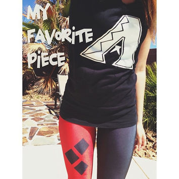 Red and Black Stylish Leggings