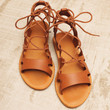 Walk With Me Lace Up Sandals