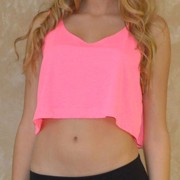 American Apparel Loose Cropped Tank