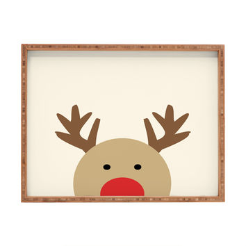 Allyson Johnson Reindeer Rectangular Tray