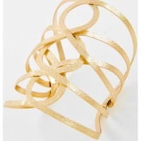 442760 Gold Tone Metal / Lead&nickel Compliant / Cuff Bracelet