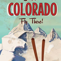 Colorado vintage Travel poster Art Print by Nick's Emporium | Society6