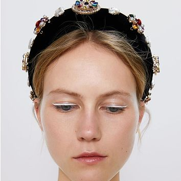 Luxury Ethnic Thick Sponge Wide Headbands