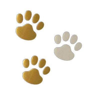 siparnuo Car Cool Design Paw Styling Pet Foot Prints Cat Footprint Style 3D Car Sticker Exterior Decoration Custom Auto Stickers