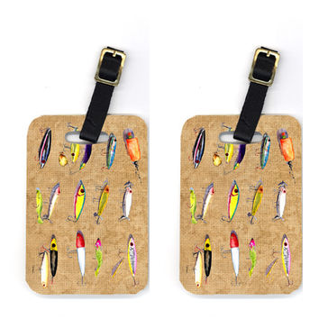 Pair of Fishing Lures Luggage Tags