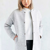 Lucca Couture Long Knit Bomber Jacket - Urban Outfitters