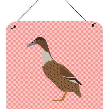 Dutch Hook Bill Duck Pink Check Wall or Door Hanging Prints BB7861DS66