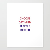 CHOOSE OPTIMISM Canvas Print by Love from Sophie