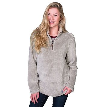 Pebble Pile Pullover 1/2 Zip in Faded Heather by True Grit - FINAL SALE