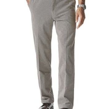 Dockers Signature Khaki Pants, Slim Fit - Otter Textured Plaid - Men's