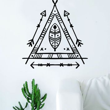 Triangle Boho Feather Arrows Decal Sticker Wall Vinyl Art Home Decor Teen Travel Adventure Explore