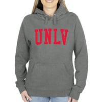 UNLV Rebels Ladies Basic Arch Pullover Hoodie - Gunmetal