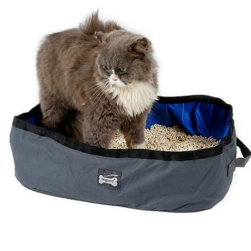 Portable Foldable Travel Cat Litter Pan