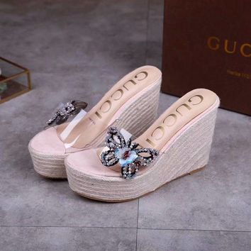 Gucci 2019 Women Butterfly Fashion Flats Slipper Sandals Shoes