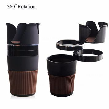 MultiFunction Car Drink Cup Holder Phone Holder glasses Key Storage Box Phone Stand Auto Organizer Creative 5 in 1 coffee holder