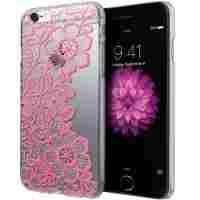 iPhone 6 Case, Cimo [Floral] Apple iPhone 6 Case Clear Design Paisley Flower Pattern Premium ULTRA SLIM Hard Cover for Apple iPhone 6 (4.7) - White