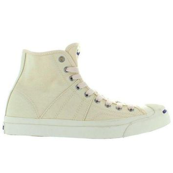 DCKL9 Converse Jack Purcell Johnny Hi - Natural/Navy Canvas High Top Sneaker