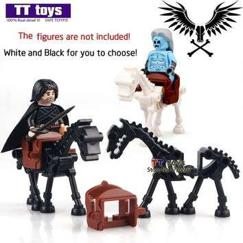 Skeleton White Walker White Black Horse MOC Game of Thrones Mini Dolls Ice and Fire Series Building Block Chindren Toys
