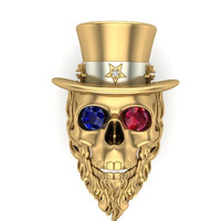 Uncle Sam Men's Skull Ring 10 k