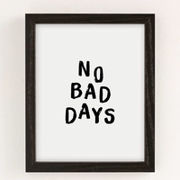 The Nectar Collective No Bad Days Art Print | Urban Outfitters