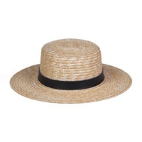 Spencer Boater Hat (Natural/Charcoal)