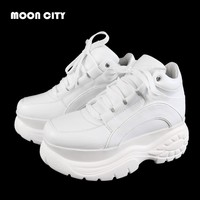 New 2018 Autumn & Winter Fashion Sneakers Casual Thick Bottom Shoes Fashion Brand Women's Vulcanize Shoes Lady's Platform Shoes