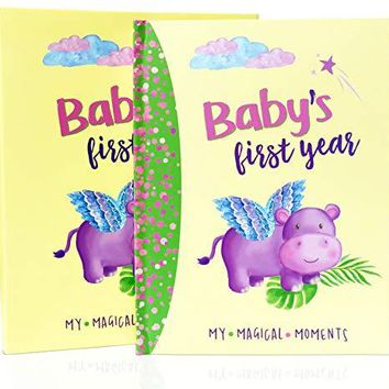 First Year Baby Memory Book Precious Gifts for New Parents of Newborn