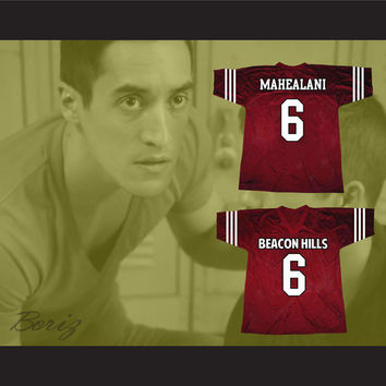 Danny Mahealani 6 Beacon Hills Lacrosse Jersey Teen Wolf TV Series