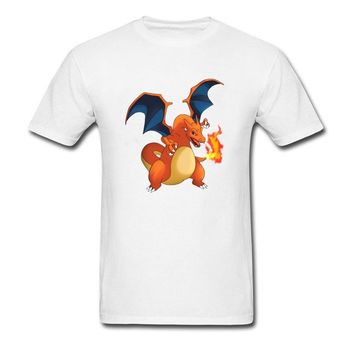 Charizard Funny Anime Movie T-Shirt Amazing T Shirt Men Slim Fit Men's Awesome Design 3D Print Tee Shirts Birthday GiftKawaii Pokemon go  AT_89_9