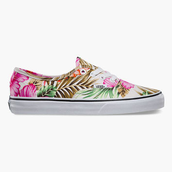 Vans Hawaiian Floral Authentic Womens Shoes White/Multi  In Sizes