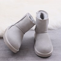 Ugg winter women's boots gray shoes